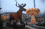 reindeer and carousel