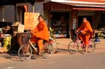 monks by bycicle