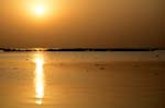 sunset on Niger river