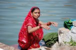 woman at ghat
