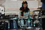 woman at drums